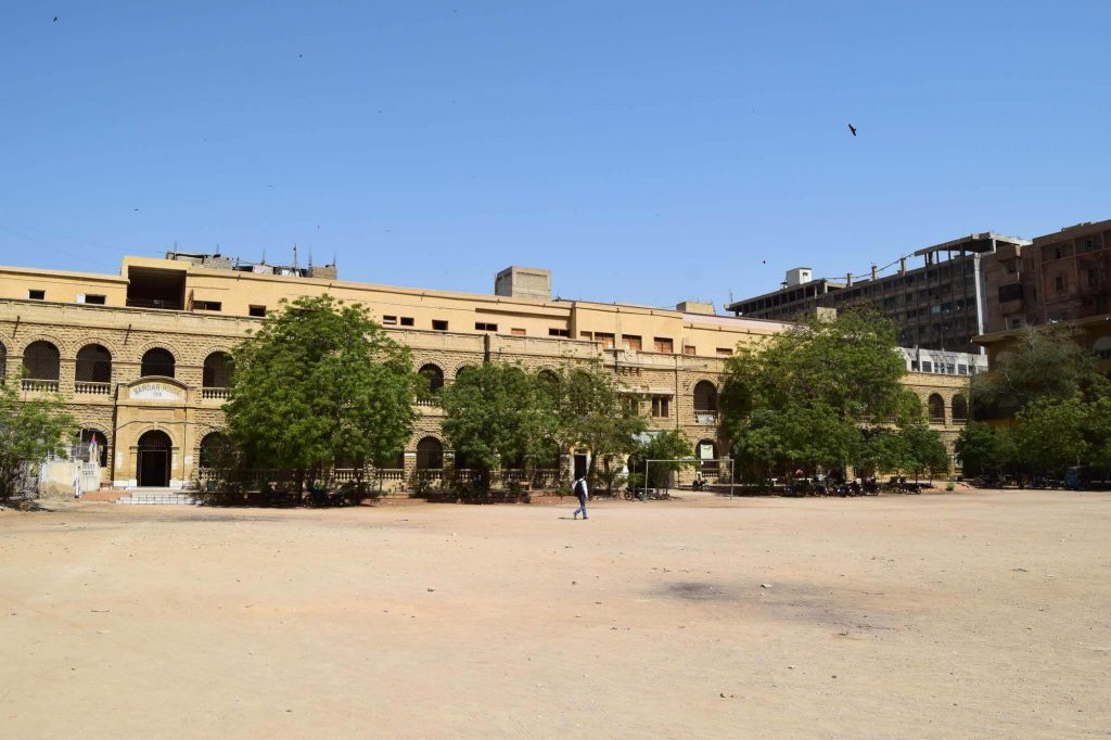 Sindh-Muslim-Government-Science-College-student-ground